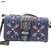 Blue Wristlet and Crossbody Style Wallet