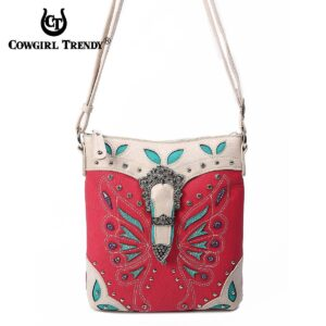 Fushia Butterfly Hipster Bag